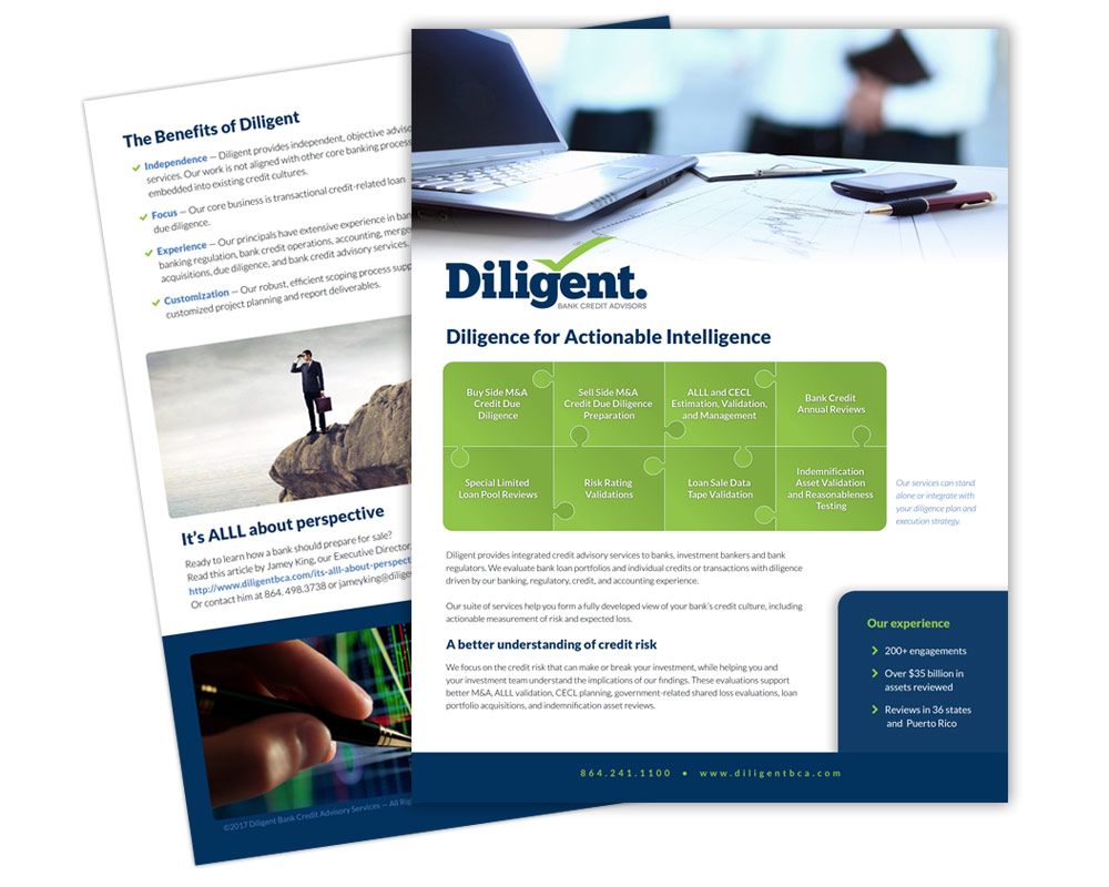 Diligent Collateral Design