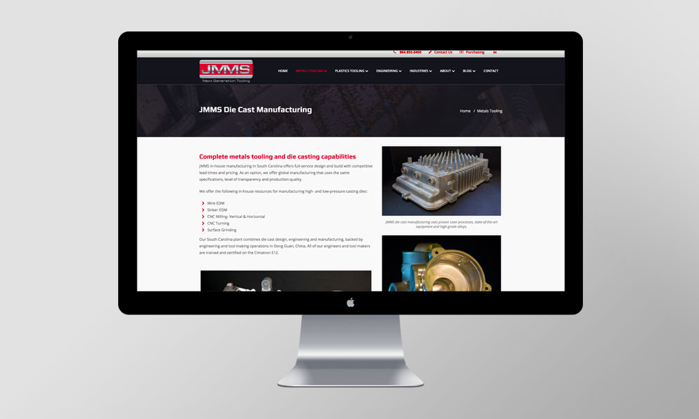 JMMS Inc web design radii