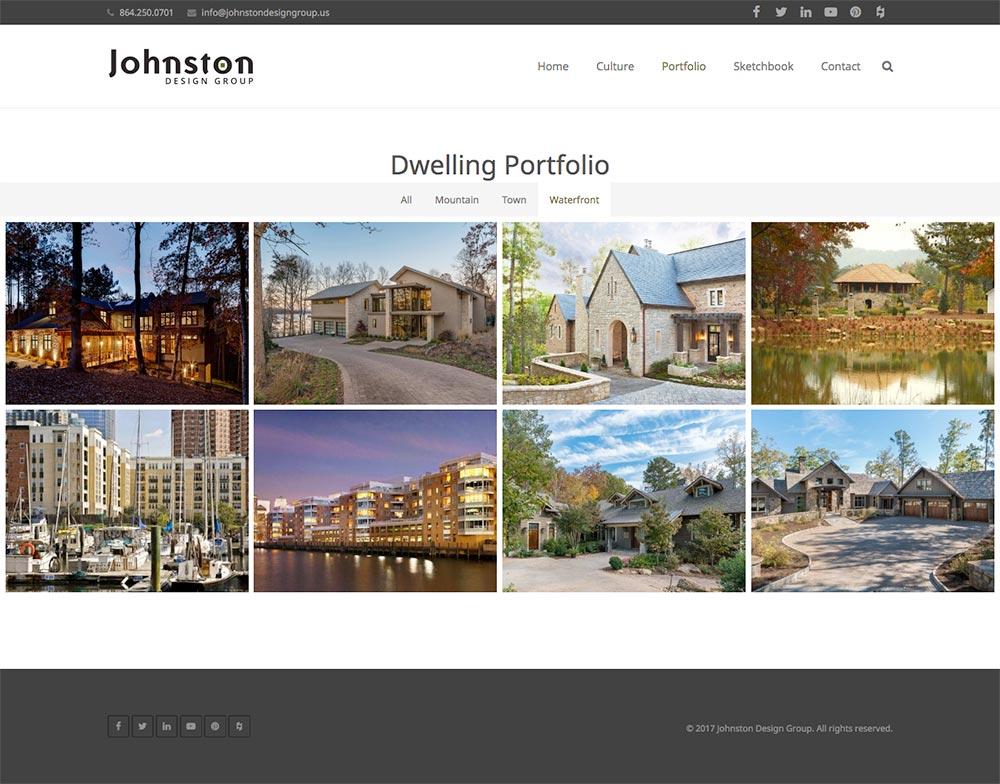 Johnston Design Group website redesign