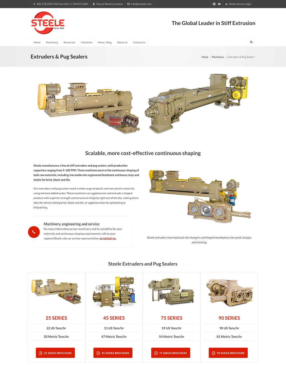 JC Steele website redesign