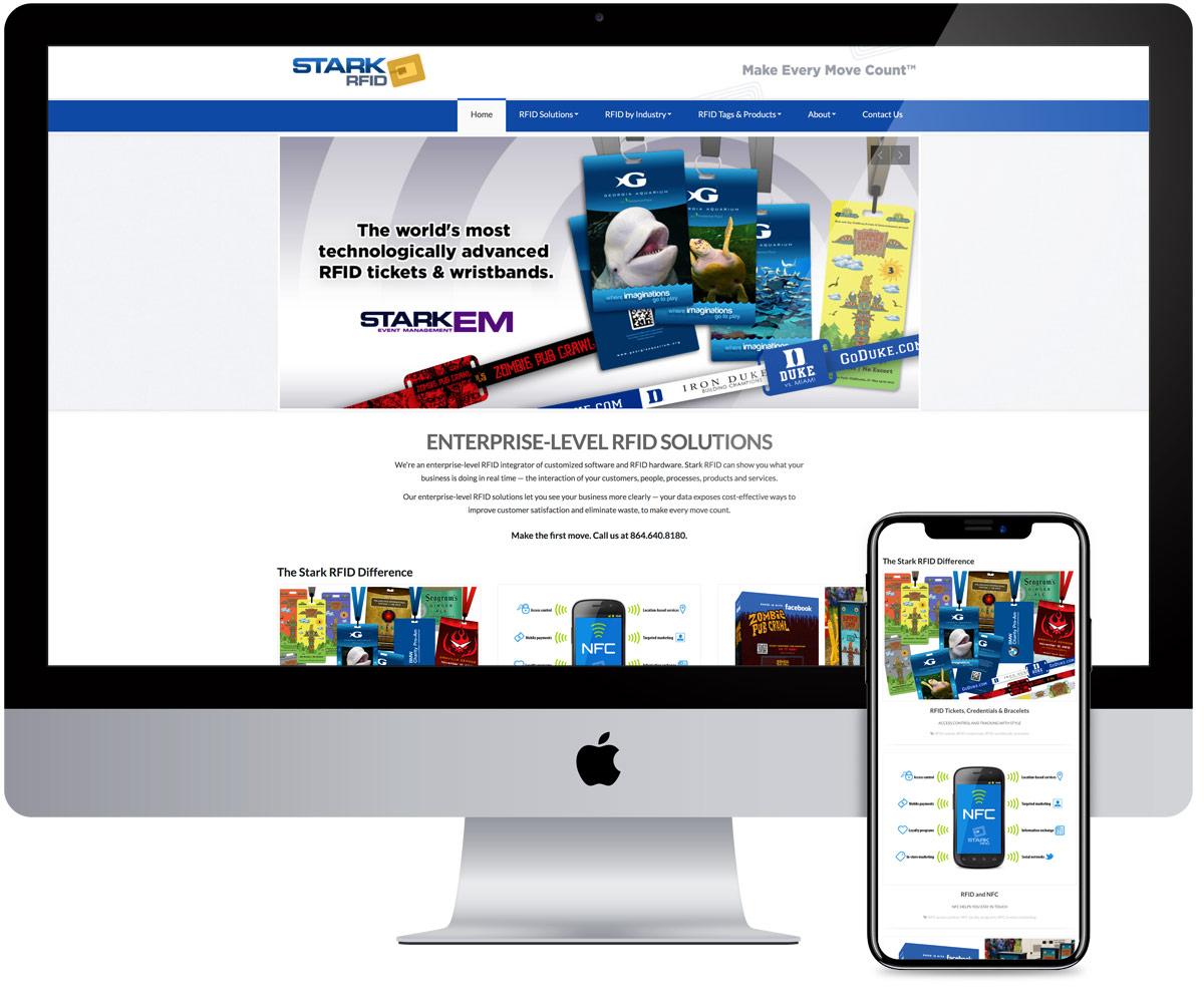 StarkRFID Web Design and Development by radii