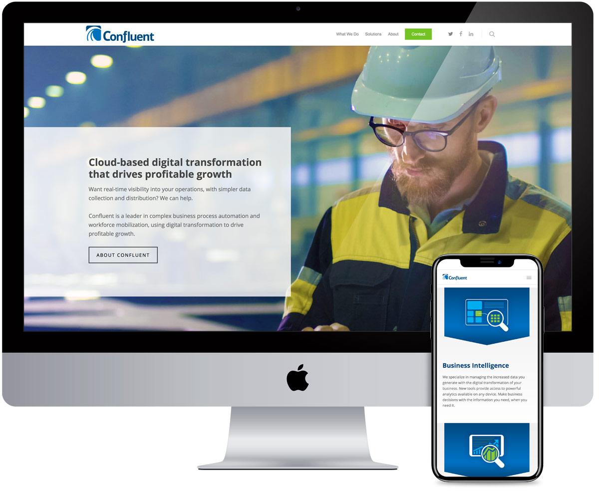 Confluent - web design by radii