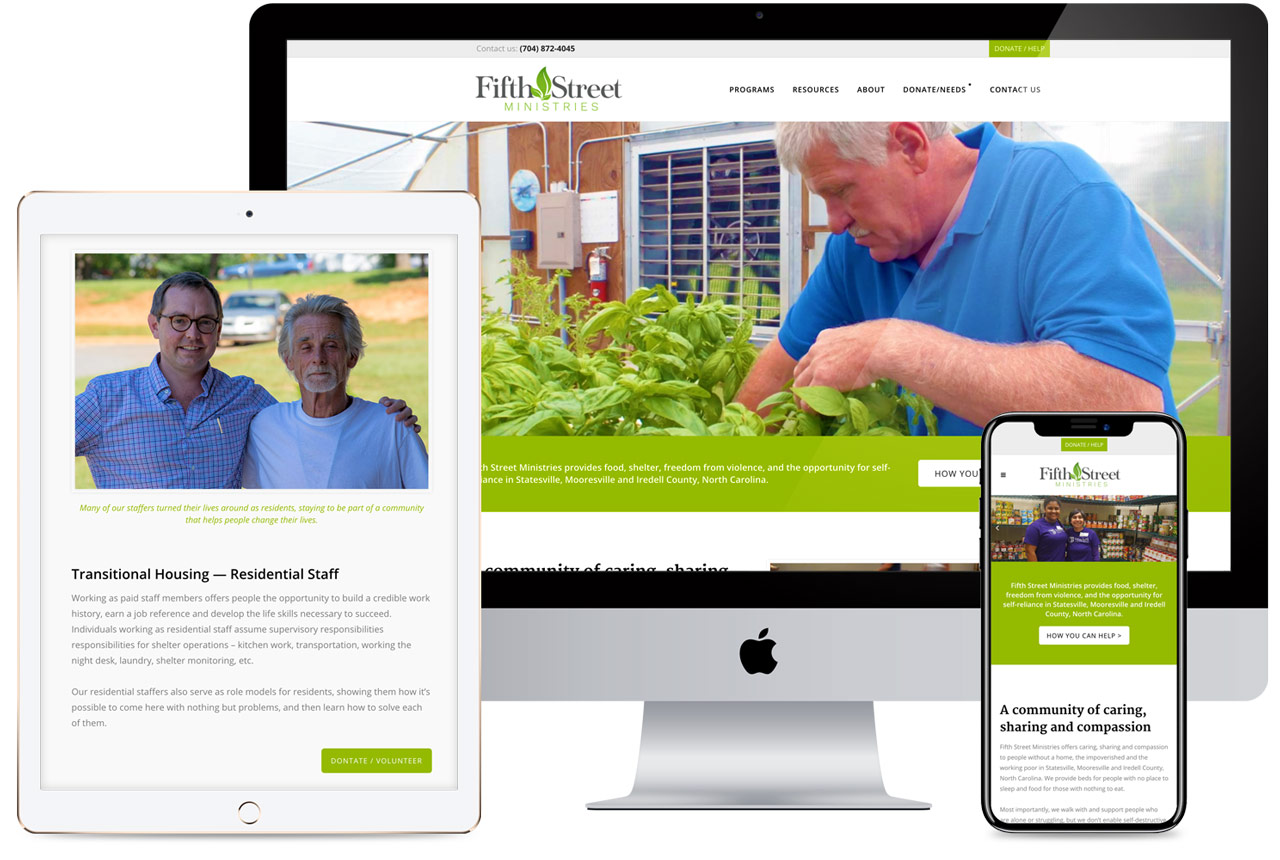 Fifth Street Ministries Web Design
