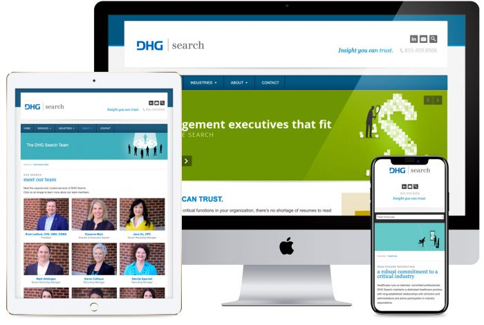 DHG Search Website Redesign